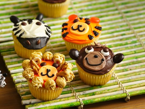 jungle cupcakes